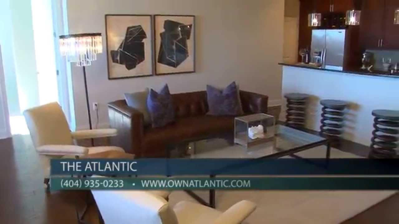 midtown atlanta condos for sale at the atlantic a prime location 3 bedroom condo tour youtube