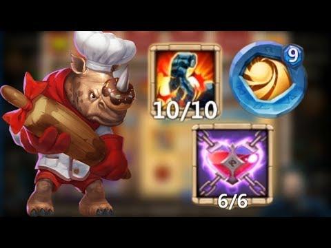 Rockno L 10/10 Stone Skin L 9/9 Sacred Light L 6/6 Malaise L Castle Clash