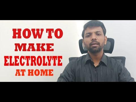 HOW TO MAKE ELECTROLYTE AT HOME    ASMANOJRAJKUMAR   