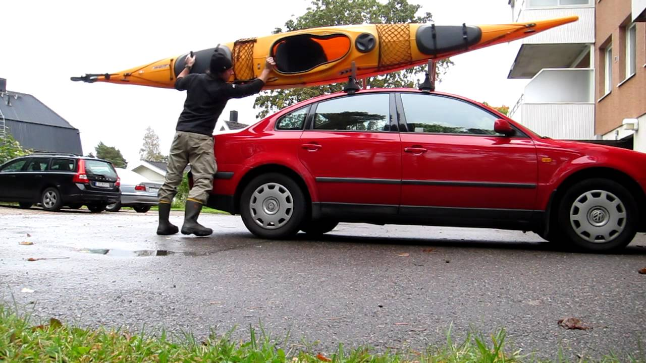 kajak på bil