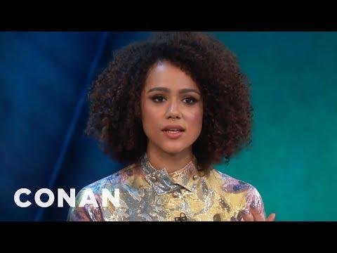 Nathalie Emmanuel On If Daenerys & Missandei Will Hook Up  - CONAN on TBS