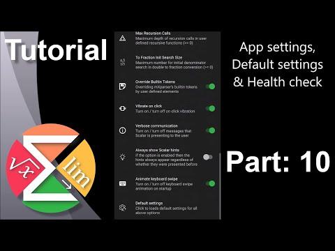 Scalar Tutorial: 10 - App Settings & Health check thumbnail