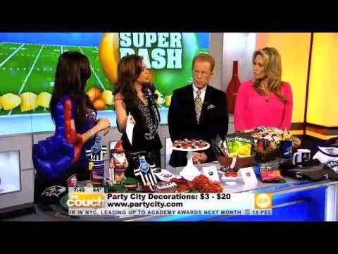 Party City Super Bowl Fun The Couch YouTube Extraordinary Party City Super Bowl Decorations