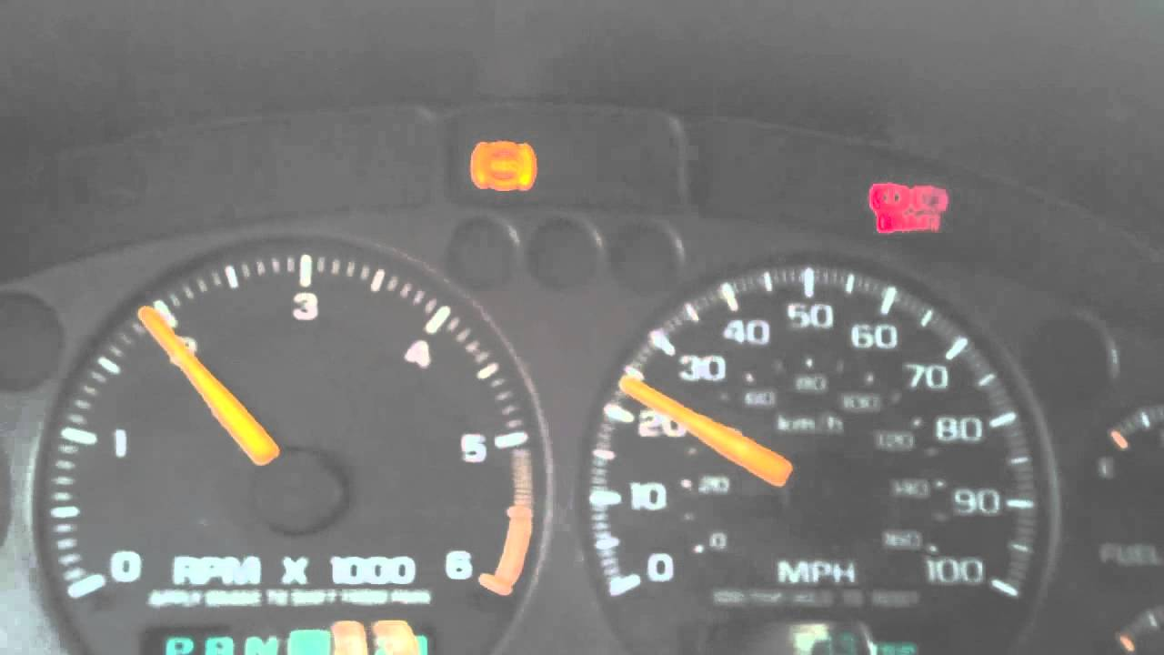 2000 astro van service engine soon light