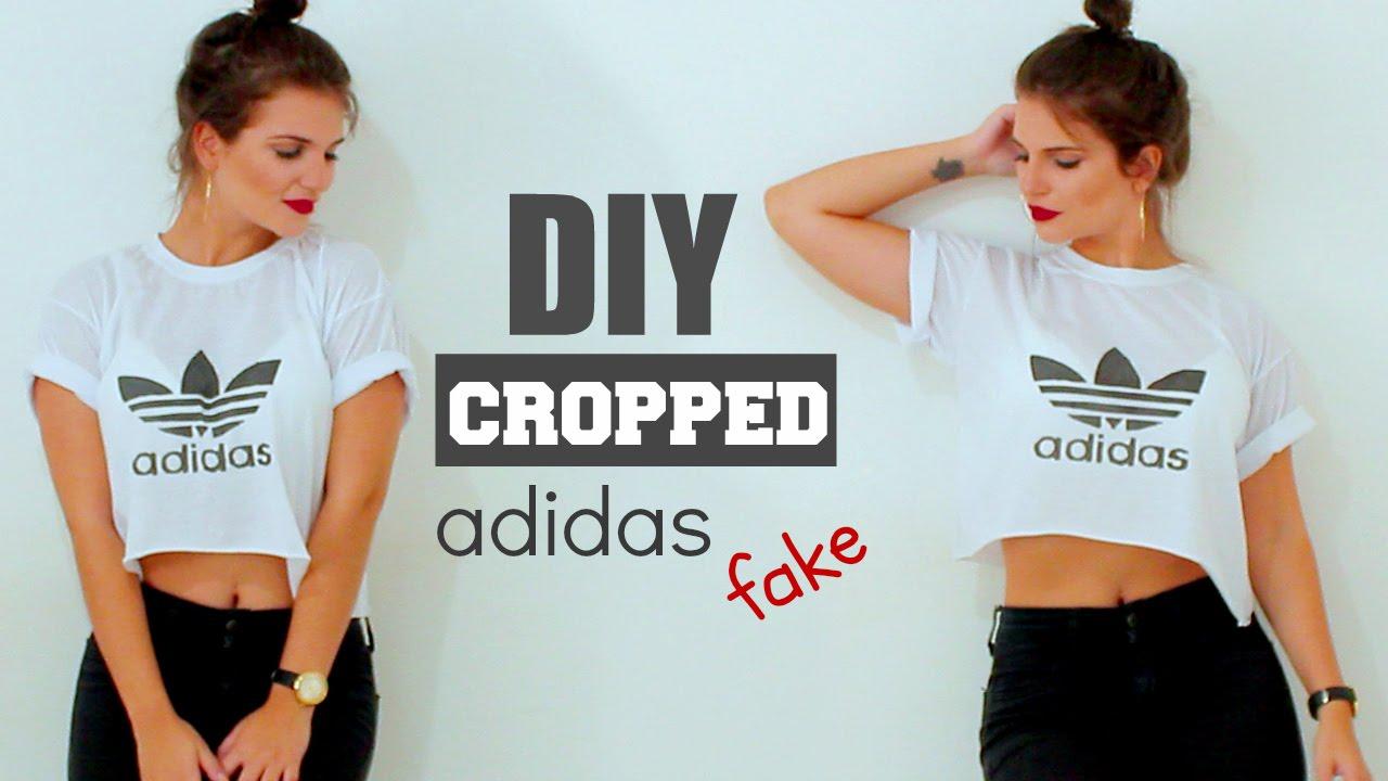 Bolsa Feminina Adidas Branca : Diy camiseta adidas fake cropped