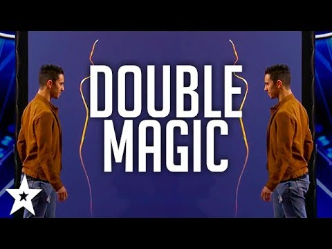 magicians les french twins double up on america 39 s got talent youtube. Black Bedroom Furniture Sets. Home Design Ideas