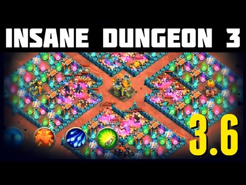 Castle Clash: Insane Dungeon 3-6 - An EPIC Dungeon!