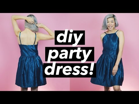 How to Make a Party Dress (halter dress style) | WITHWENDY
