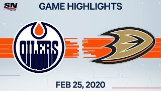 NHL Highlights | Oilers vs. Ducks - Feb. 25, 2020