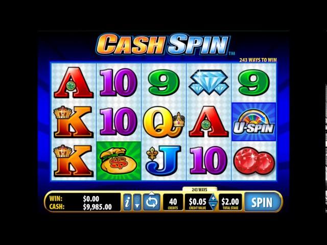 Пример игры в игровой слот Cash Spin. Обучающее видео.