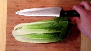 How To Prep Romaine Lettuce For Salads.