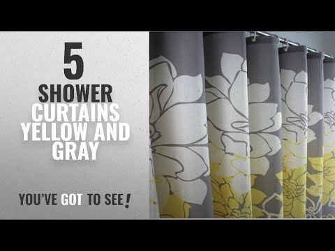 Top 10 Shower Curtains Yellow And Gray [2018]: Eforcurtain Home Fashion Floral Print Pattern Shower
