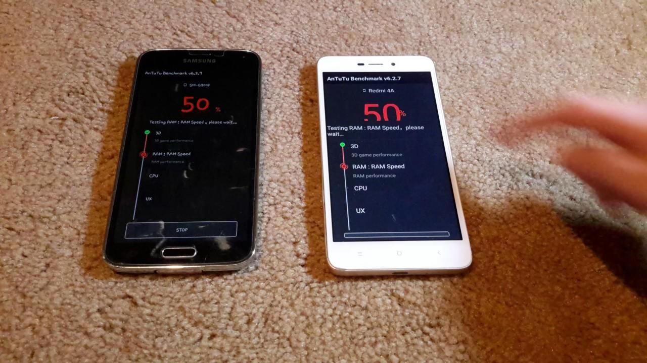 Samsung Galaxy S5 Vs Xiaomi Redmi 4A Antutu Test