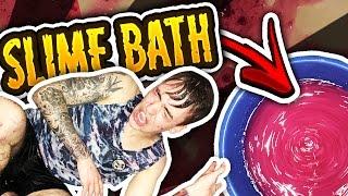 SLIME BATH CHALLENGE GONE WRONG!!
