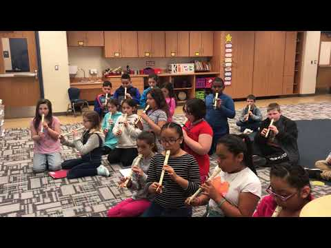 Playing the Recorder at Prairie Lincoln Elementary School!