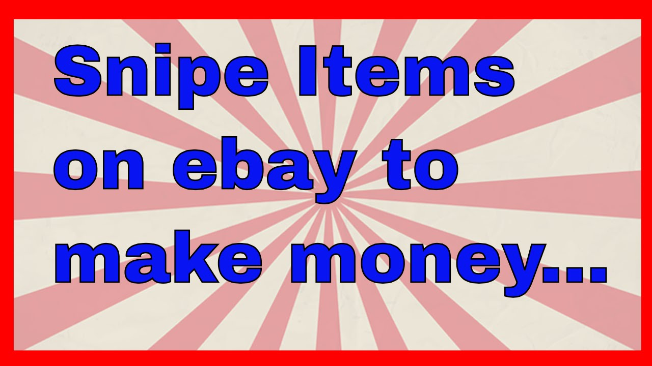 How To Snipe Items On Ebay Sell For Profit Some Items I Won Today Ebay Sniping Youtube