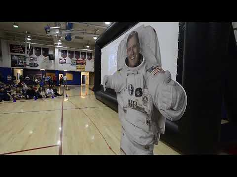 Astronaut Jack Fischer Talks to Centaurus High School in Lafayette Colorado