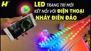 Review LED Sao Băng & 2 Loại LED Kết Nối Với Điện Thoại | Nháy Điện Đảo | Giá 99k