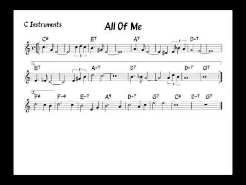 All of me - Play along - C version
