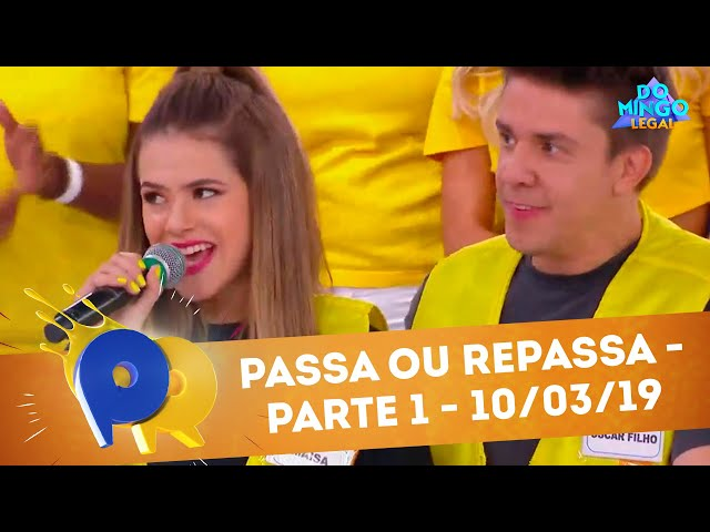Passa ou Repassa - Parte 1 | Domingo Legal (10/03/19)