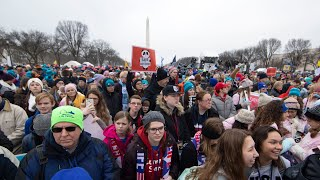 Thousands gather for anti-abortion March for Life rally in Washington