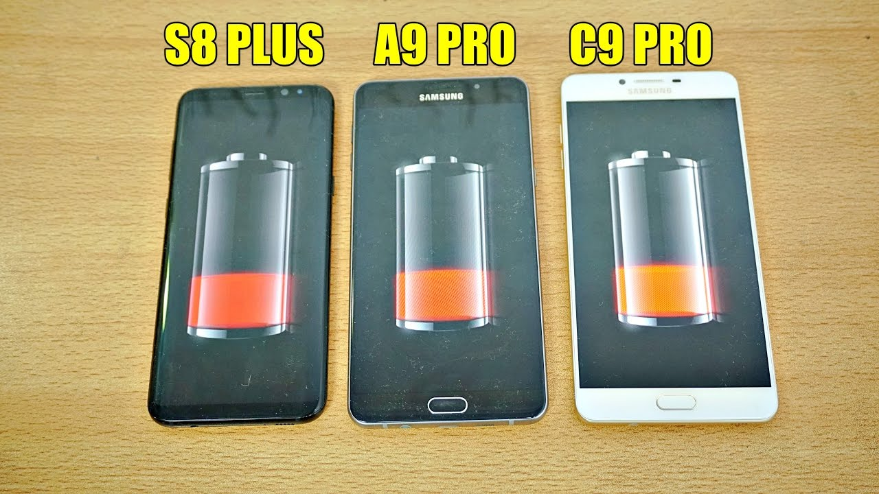 samsung galaxy s8 plus vs a9 pro vs c9 pro battery drain test 4k youtube. Black Bedroom Furniture Sets. Home Design Ideas