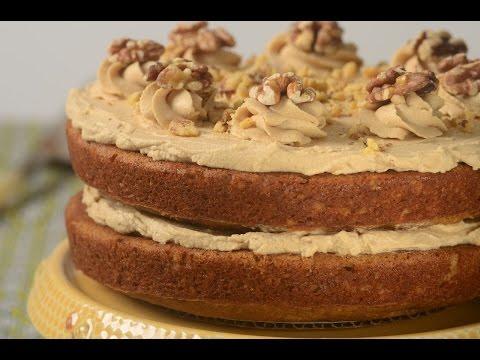 Coffee Walnut Cake Recipe Demonstration - Joyofbaking.com