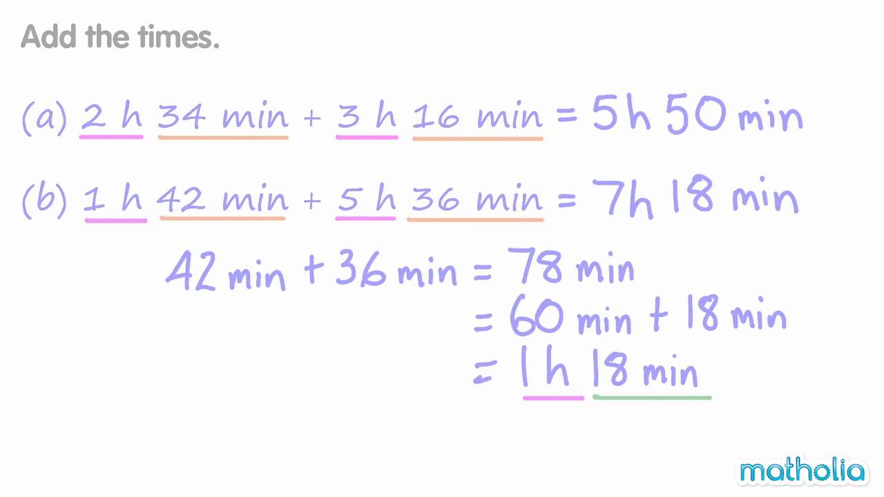 worksheet Subtracting Time addition and subtraction of time youtube time