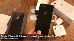 Apple iPhone 8 Schwarz Unboxing und erster Eindruck