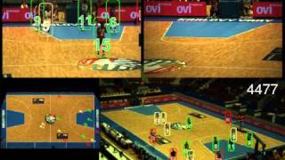Tracking multiple basketball players using Global Appearance Constraints
