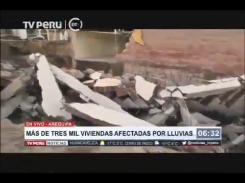 Más de tres mil viviendas afectadas por lluvias en Arequipa