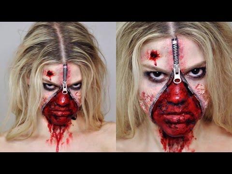 face Halloween zipper