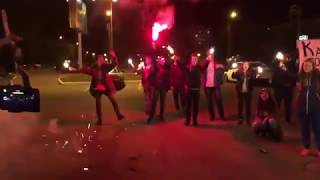 Перформанс московского фан-клуба Noize MC после концерта в г. Тверь (30.09.2018)