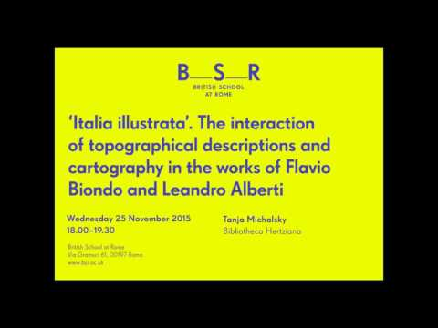 A lecture by Tanja Michalsky, 'Italia ilustrata.'