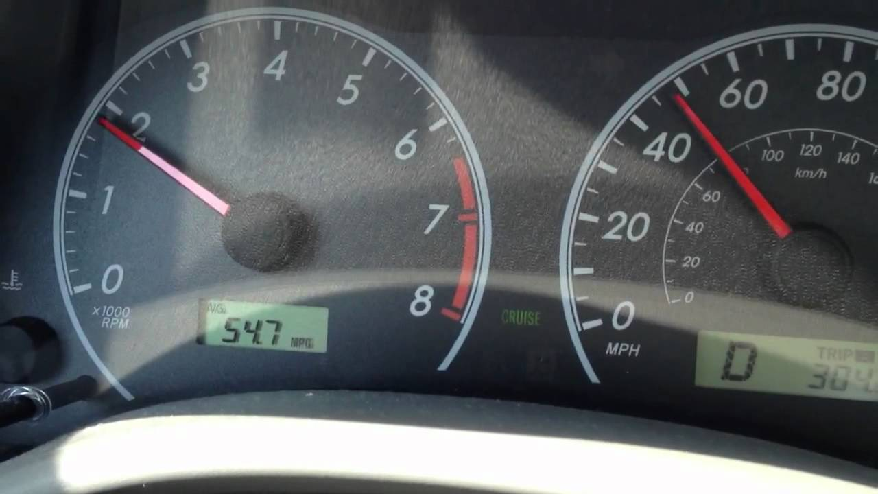 Toyota Corolla Fuel Efficiency Mpg