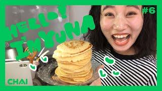"""""""HELLO I'M YUNA!"""" ホットケーキをたらふく食べるぞ! (subtitled)"""