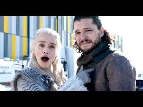 Emilia Clarke intenta mostrar un rodaje de 'Juego de Tronos'