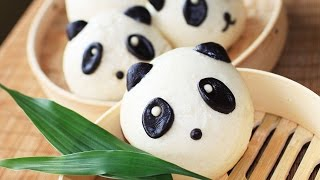 Sweet Panda Mantou Recipe / Sweet buns /甜馒头
