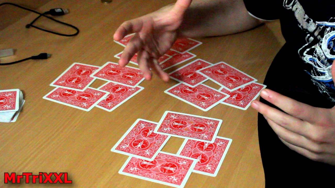 Kartentrick 21 Karten 3 Stapel