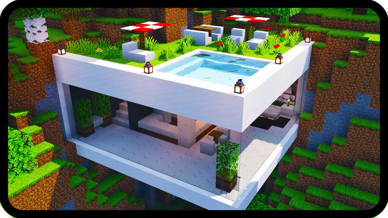 Minecraft Java Edition Modern House - Pixel Art Grid Gallery
