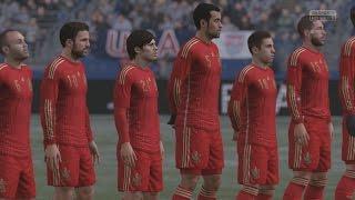 EA SPORTS FIFA 16 - USA v Spain Gameplay (Snow) [1080p 60FPS HD]