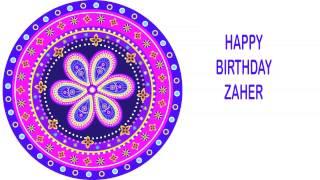 Zaher   Indian Designs - Happy Birthday
