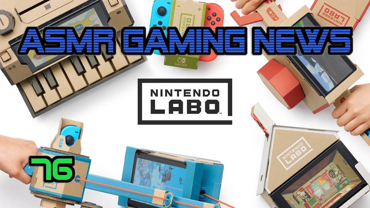 ASMR Gaming  News (76) Nintendo Labo, Overwatch, Fortnite, Pokemon, Switch, Cyberpunk 2077 + More!