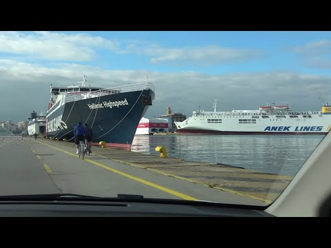 Piraeus port - tour video Athens Greece (Dec 2020)