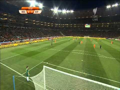 Chung kết giải bóng đá thế giới giữa Hoà Lan và Tây Ban Nha năm 2010