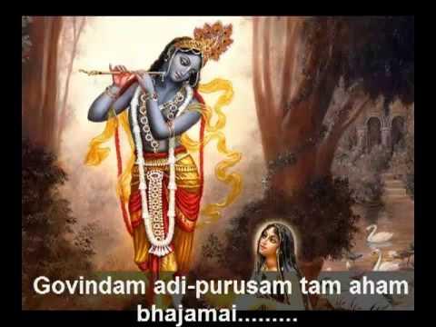 Govindam Adi Purusam with lyrics by george harrison   YouTube