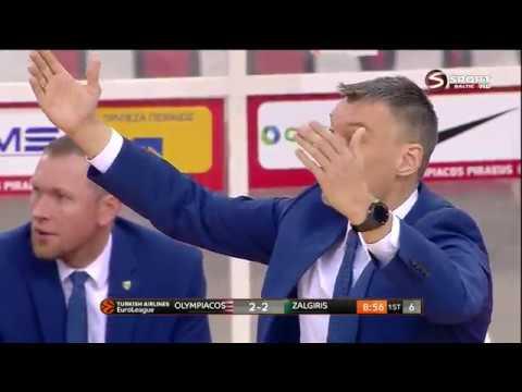 Eurolyga Playoffs Game 2 Olympiacos Žalgiris LT 2018 04 20