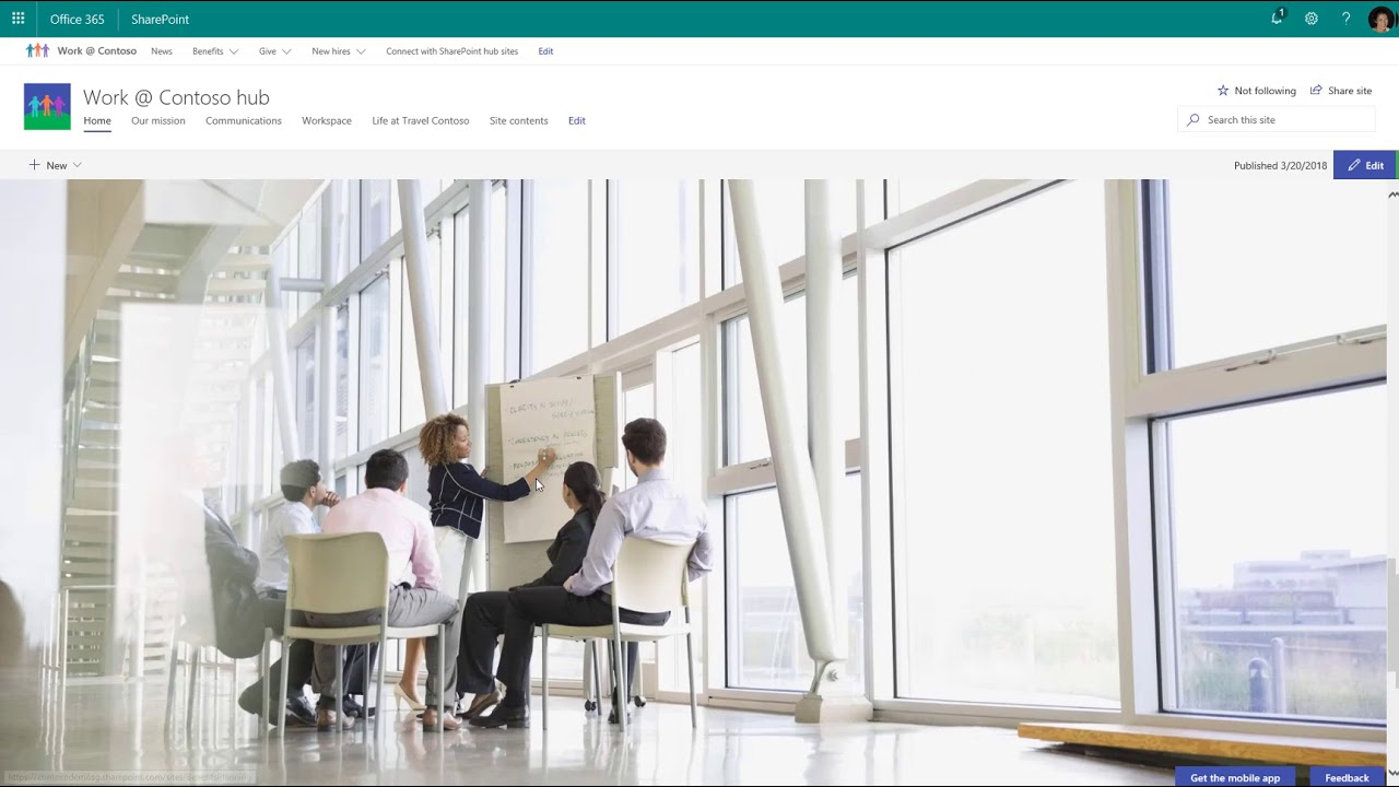 Organize your intranet with SharePoint hub sites in Office 365