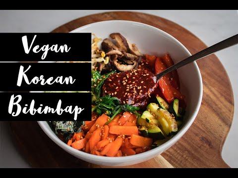 Vegan Korean Bibimbap + Sauce | Recipe Video