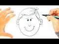 Cómo dibujar un Niño paso a paso   Dibujo fácil de Cara de Niño
